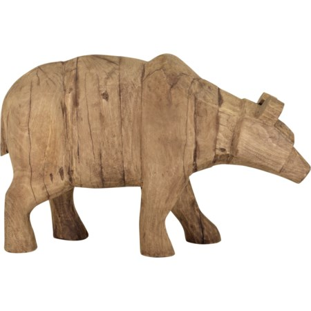 Wooden Grizzly Bear