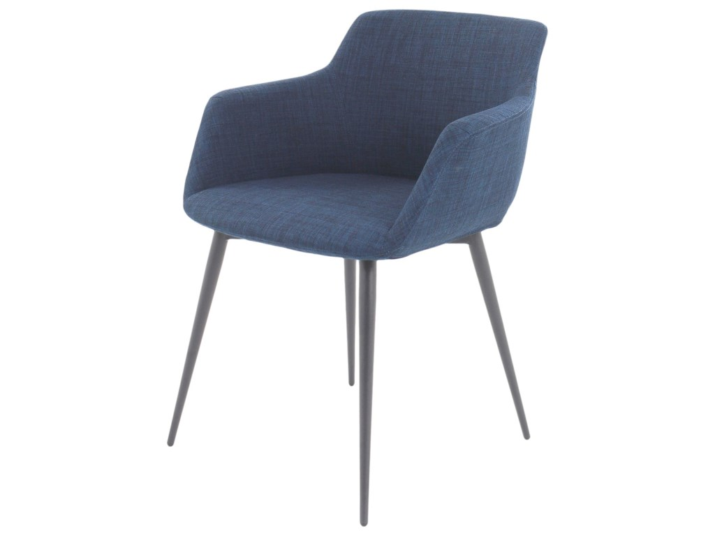 Moe's Home Collection Dining ChairsRonda Upholstered Arm Chair with Steel Legs