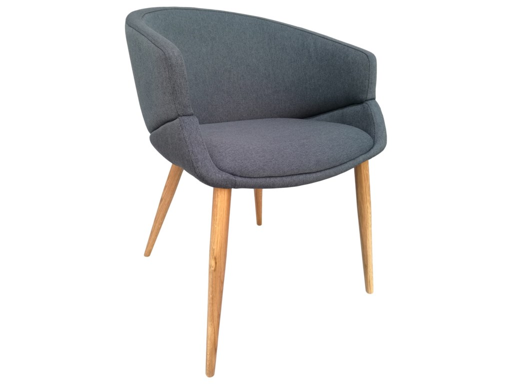 Moe's Home Collection FinsburyLight Grey Dining Chair