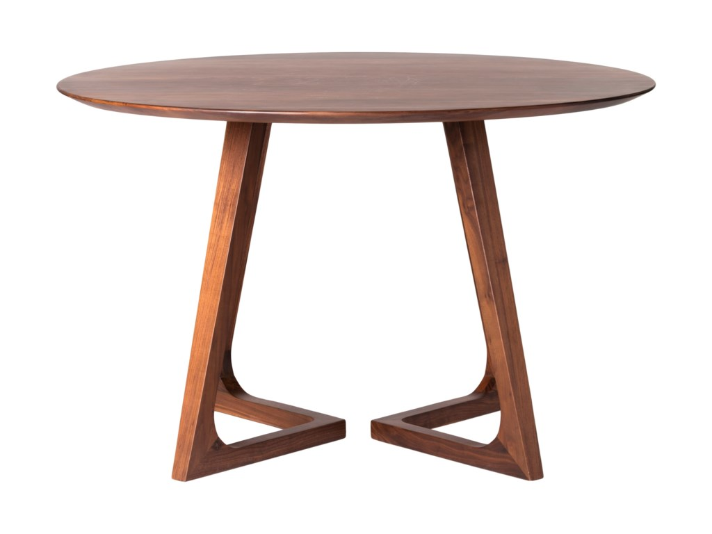 Moe S Home Collection Enza Round Mid Century Modern Dining Table