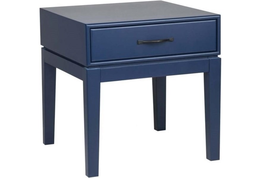 Moe S Home Collection Indochine Electric Blue Side Table Stoney Creek Furniture End Tables