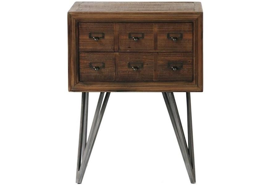 Javadi Reclaimed Wood Square Side Table