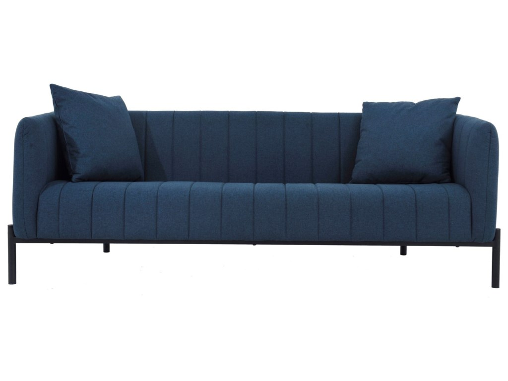 Moe S Home Collection Jaxon Contemporary Sofa With Memory