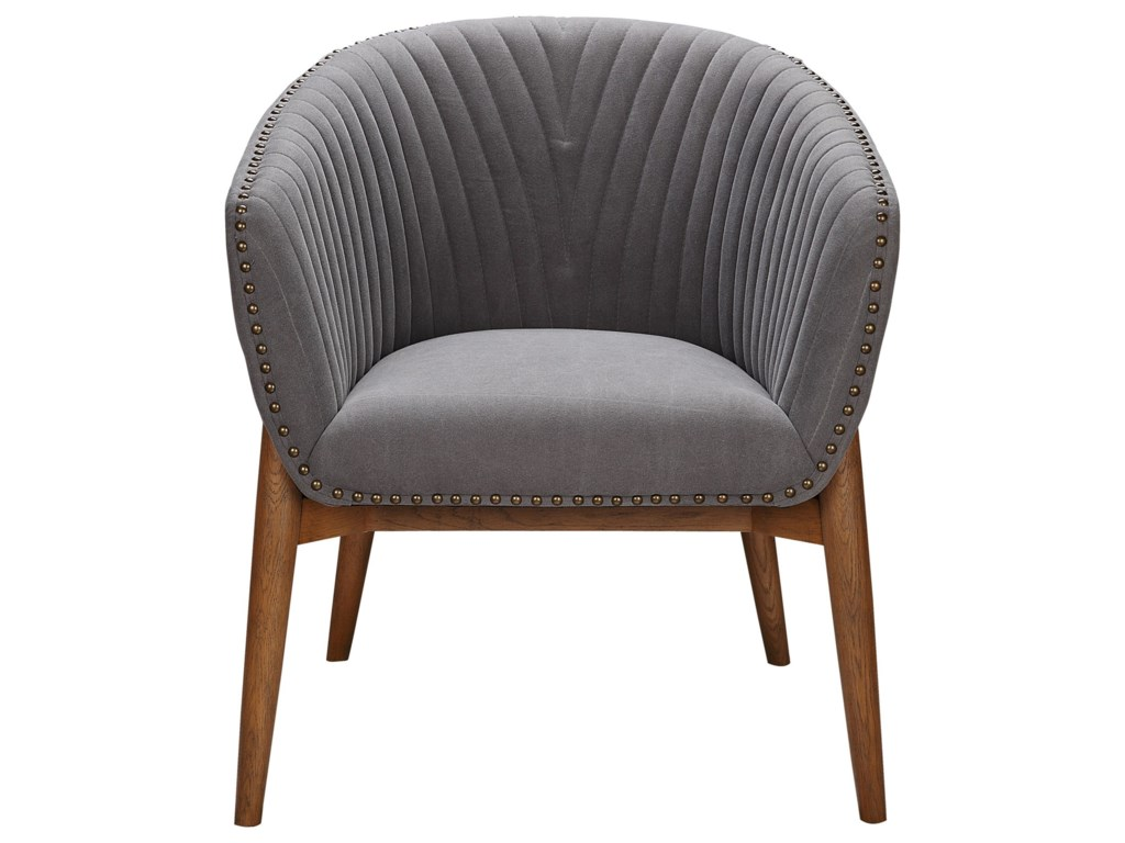 Moes home collection kismet contemporary upholstered tub chair with nailhead trim