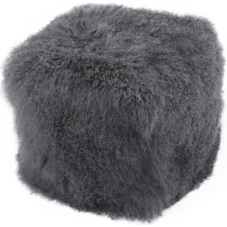 Fur Pouf Smoke