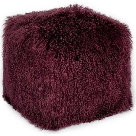 Fur Pouf Purple