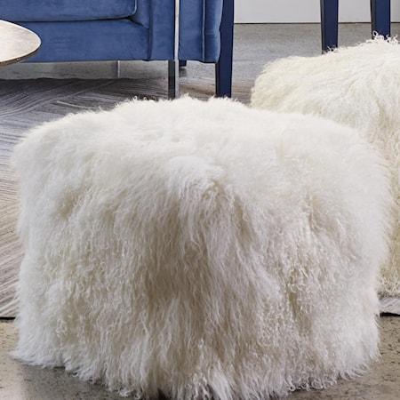 Fur Pouf Natural