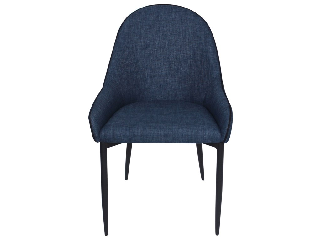 Moe's Home Collection LapisDining Chair Dark Blue