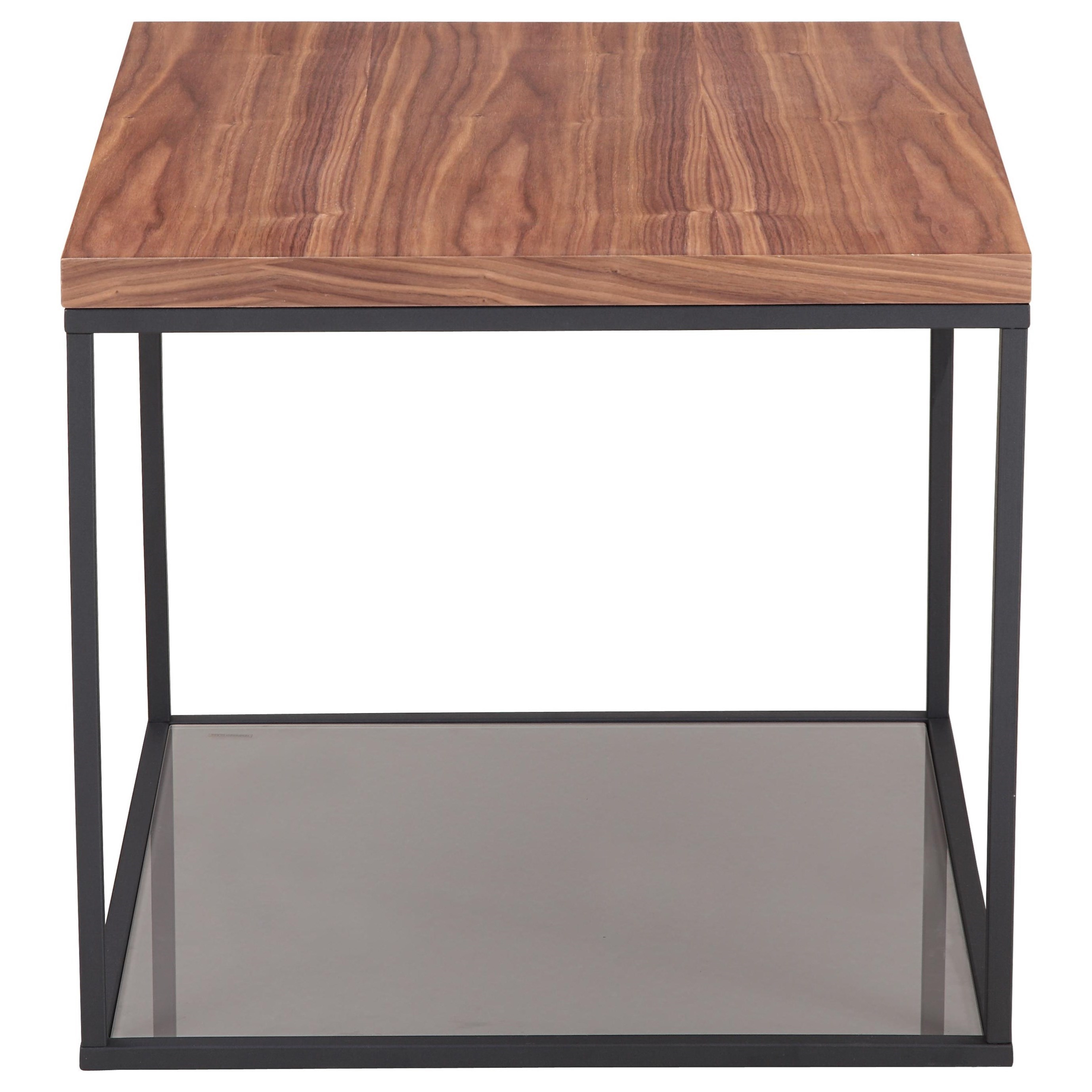 Moe S Home Collection Leroy Contemporary Wood And Metal Side