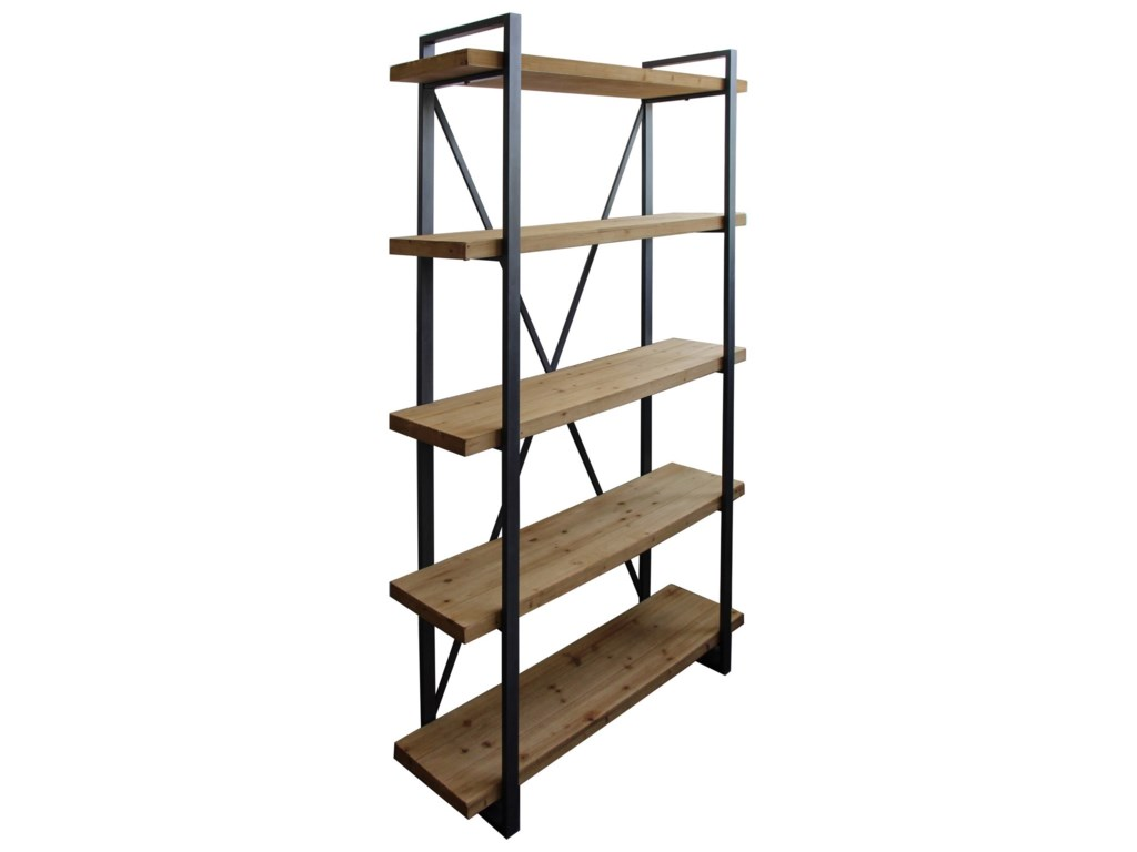 Moe's Home Collection Lex5 Level Shelf Natural
