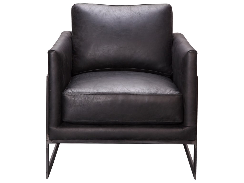 Moe's Home Collection LuxeClub Chair Black