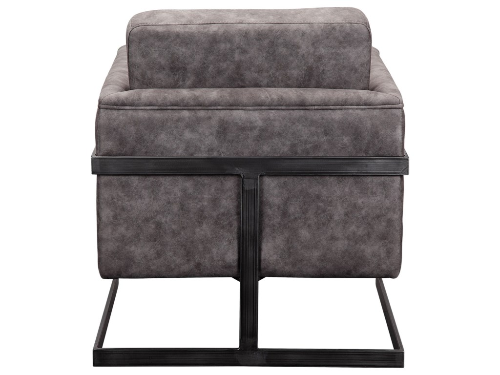 Moe's Home Collection LuxeClub Chair Grey Velvet