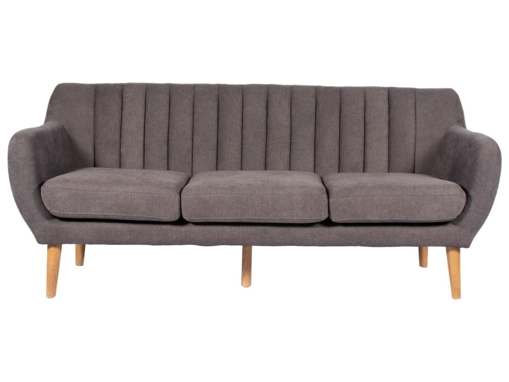 Moes home collection madison mid century modern sofa