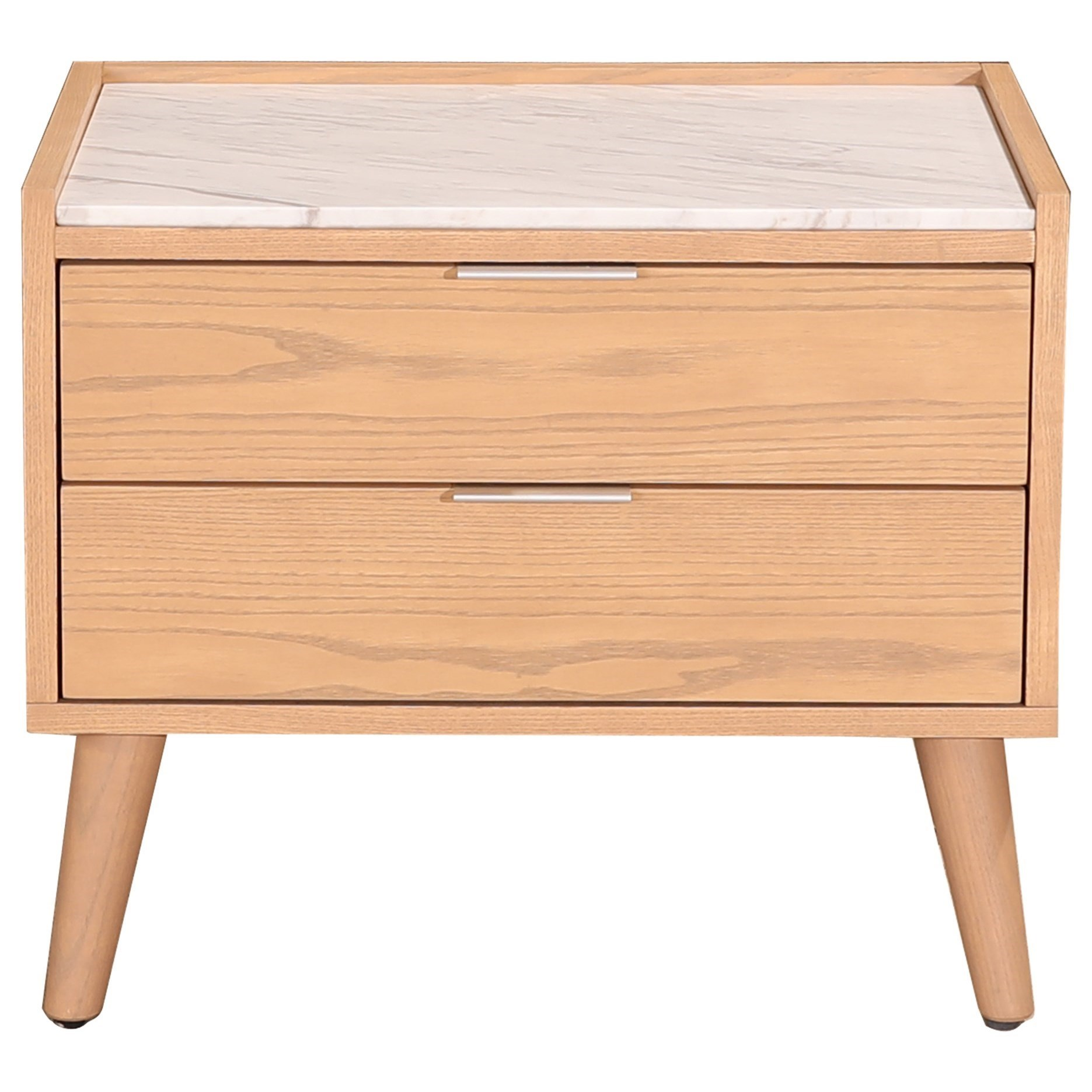 Moe S Home Collection Munro Transitional Nightstand With 2