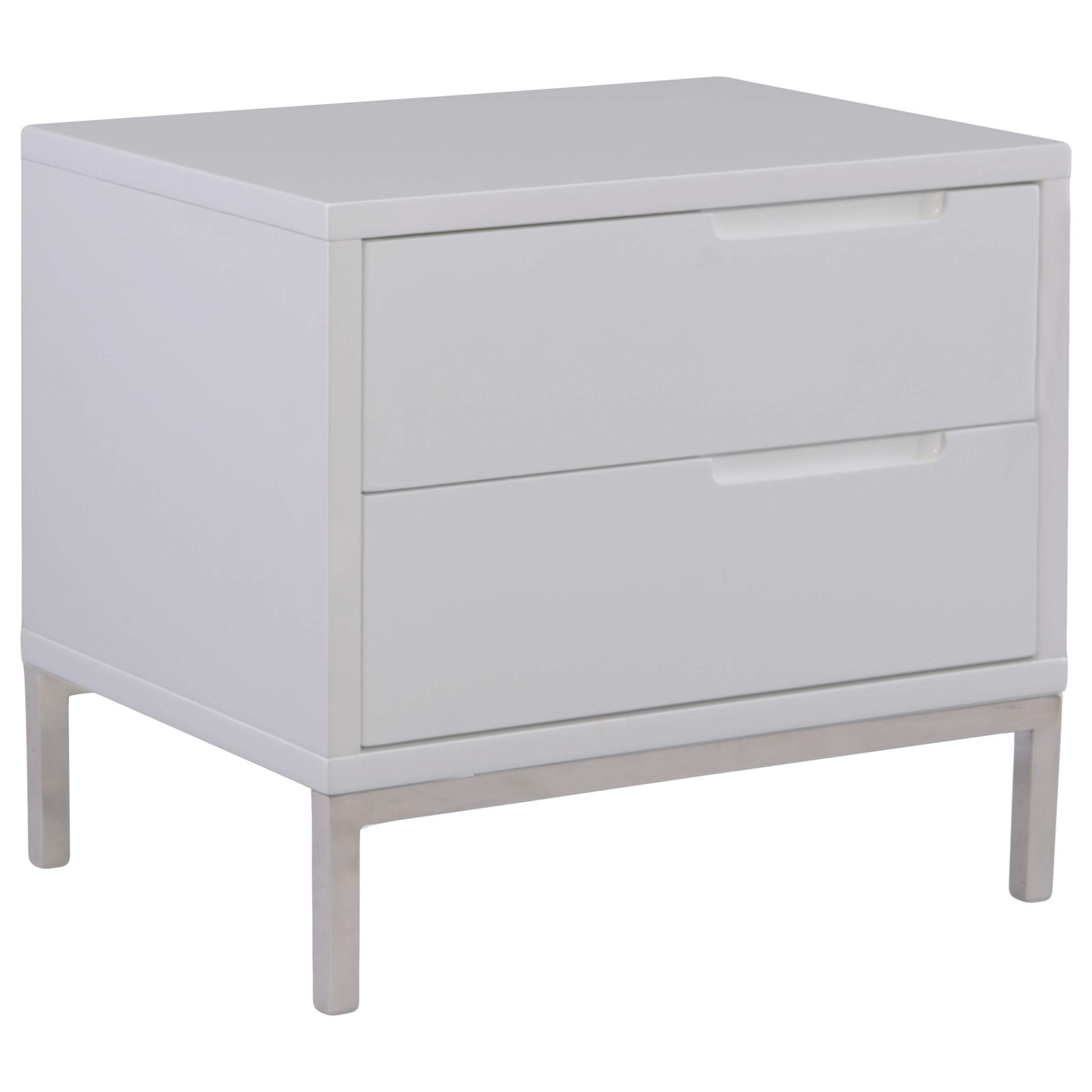 Moe S Home Collection Naples Contemporary 2 Drawer