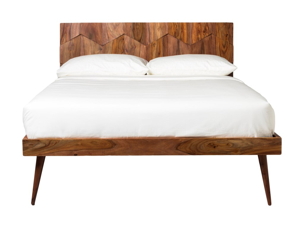 new styles a5cfa a837b Moe's Home Collection O2 Contemporary Queen Size Solid Wood ...