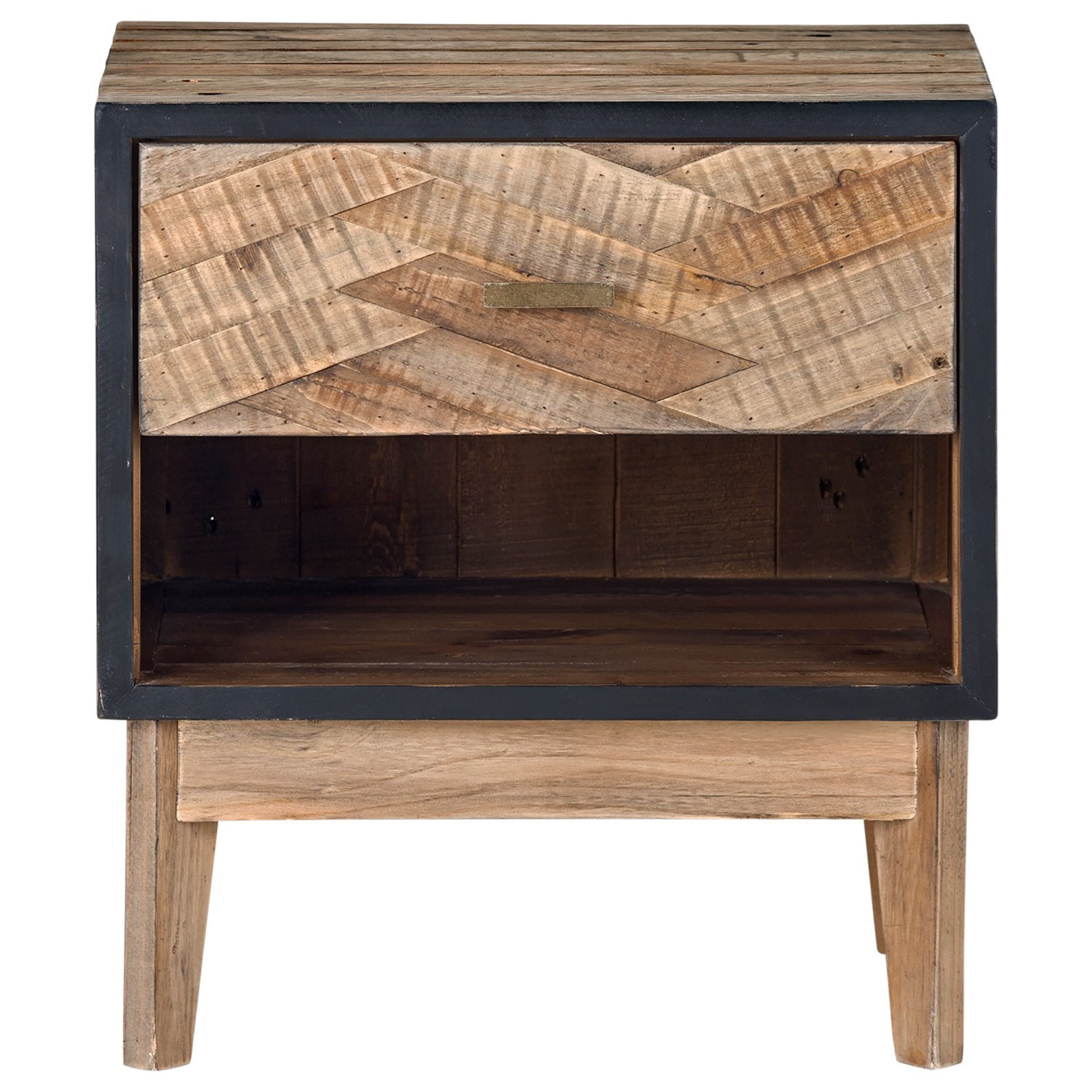 Moe S Home Collection Otero Rustic Industrial Nightstand