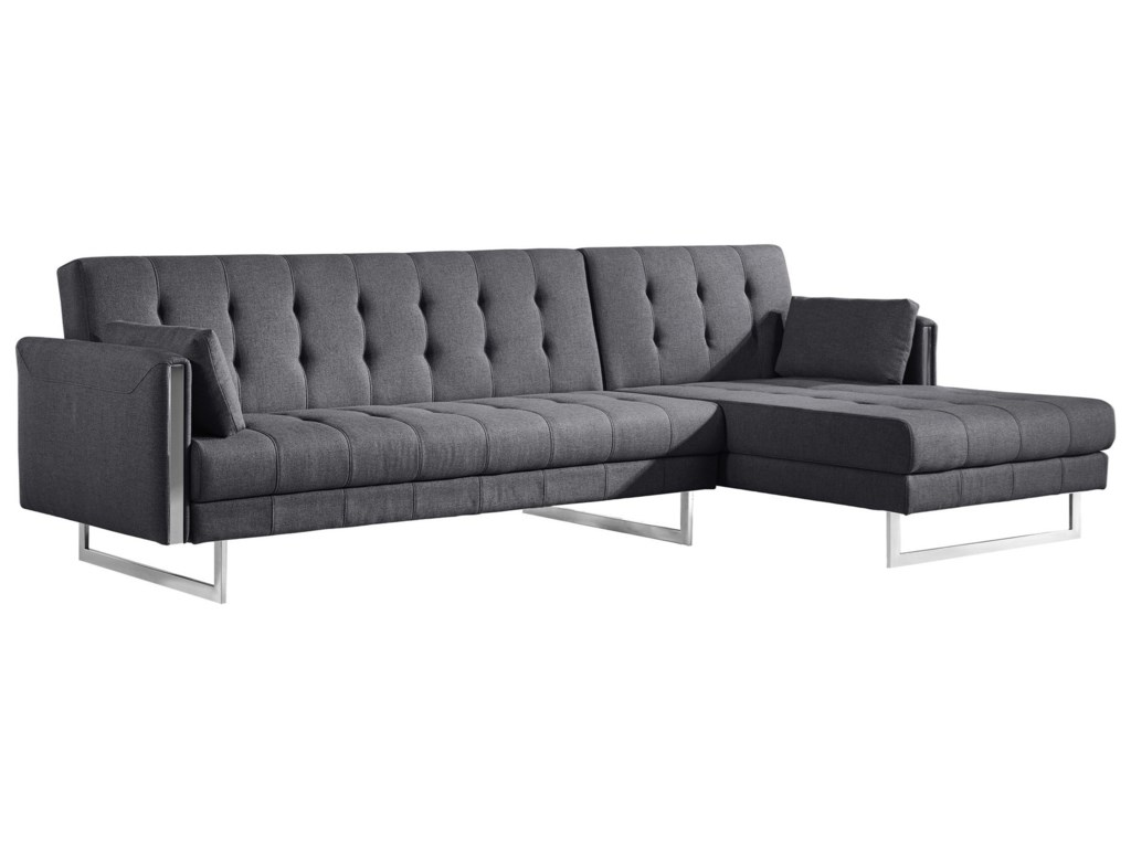 Moe\'s Home Collection Palomino Contemporary Right Facing Tufted Sofa ...
