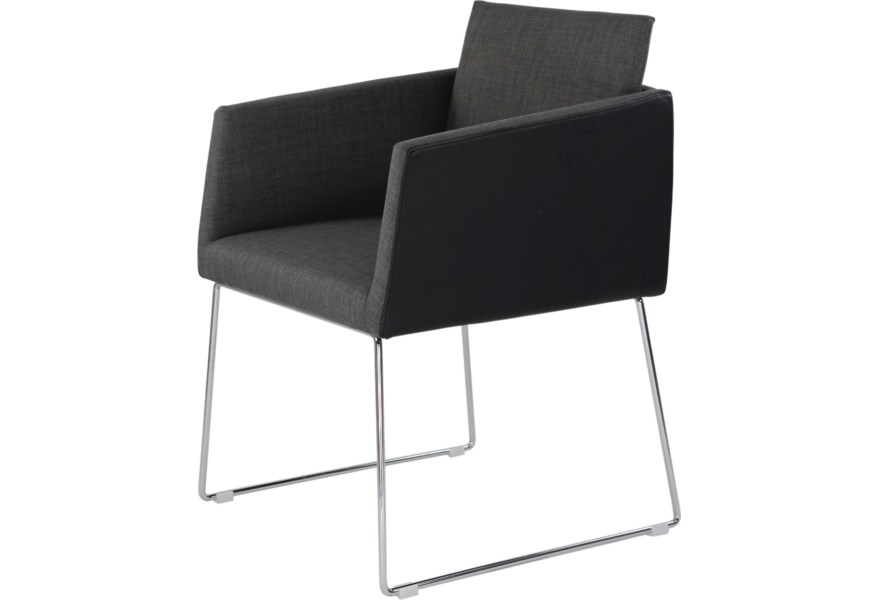 Moe S Home Collection Park Contemporary Upholstered Dining Arm Chair Wilson S Furniture Dining Arm Chairs