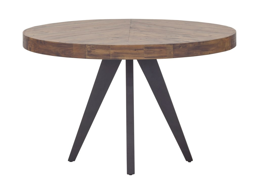 Moe S Home Collection Parq Rustic Round Dining Table With Solid