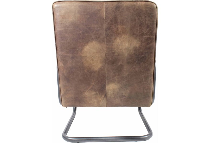 Moe S Home Collection Perth Transitional Club Chair With Iron Base Wilson S Furniture Upholstered Chairs