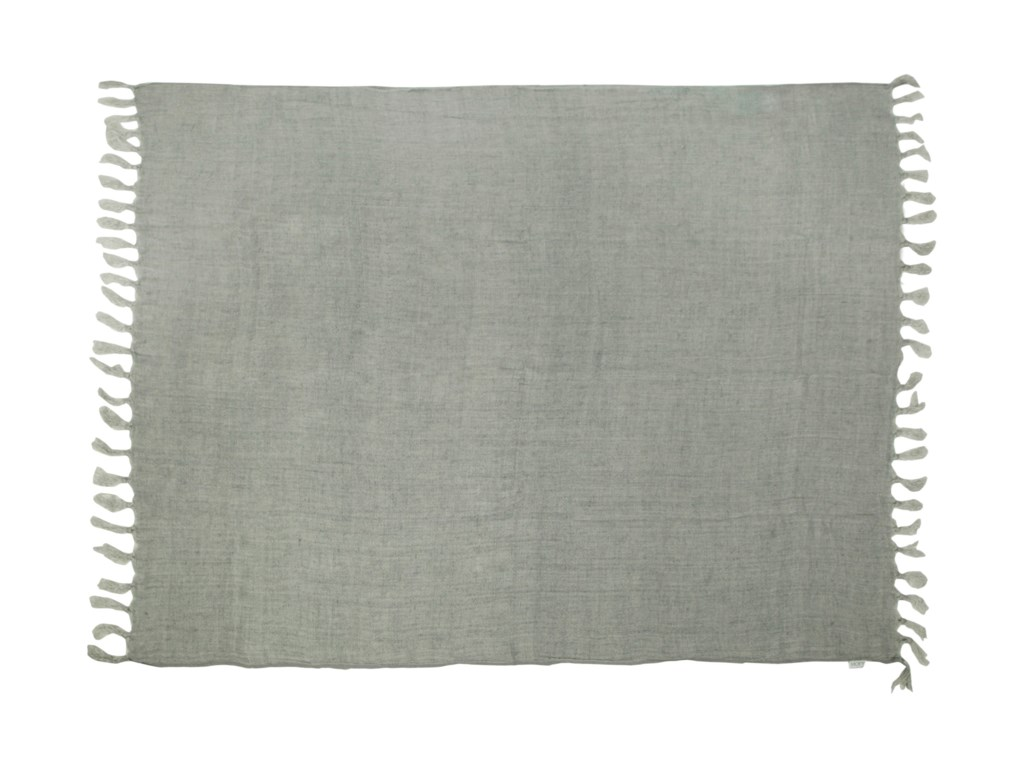 Moe's Home Collection Pillows and ThrowsLemmy Heavy Linen Throw Grey
