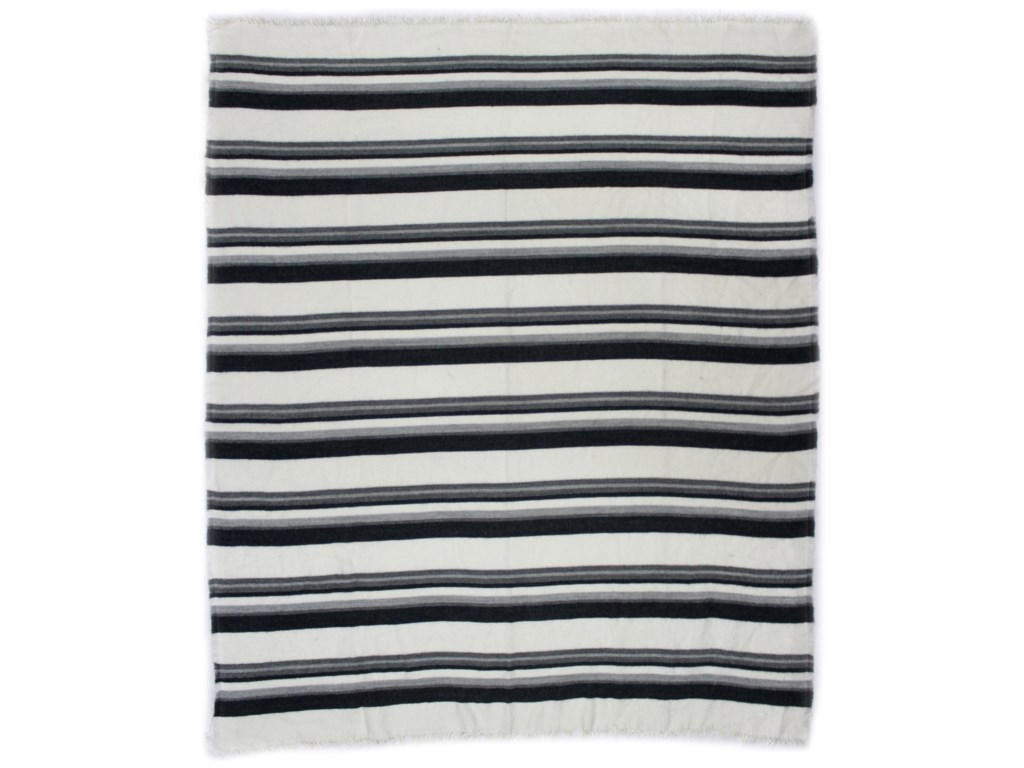 Moe's Home Collection Pillows and ThrowsAllfresco Throw Blue Stripes