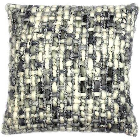 Cozy Feather Cushion Light Grey 20X20
