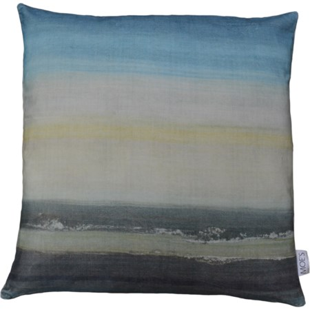 Sunrise Velvet Feather Cushion 25X25