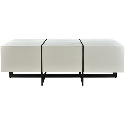 Moe's Home Collection Prado Contemporary Coffee Table with Iron Frame