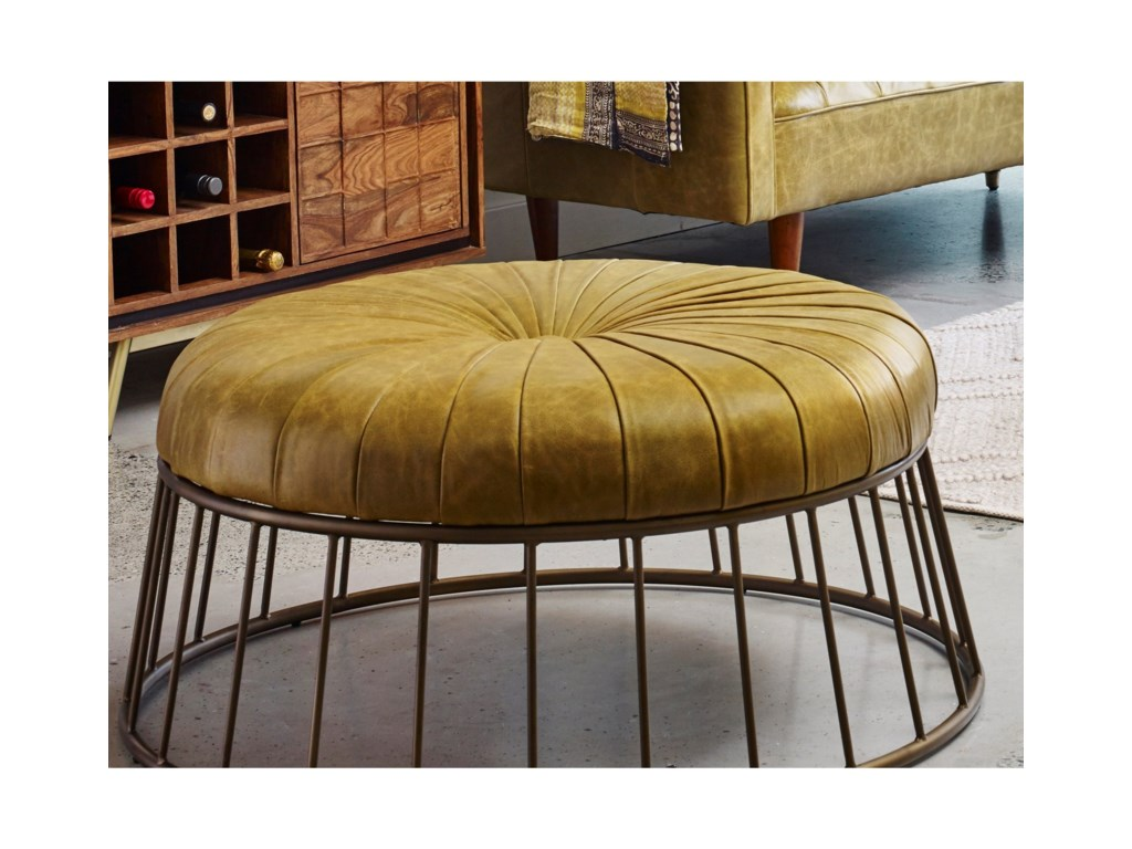 Moe's Home Collection RadcliffeLeather Ottoman