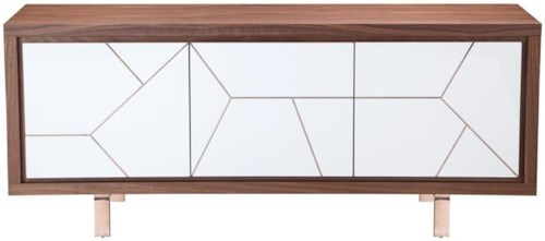 Moe's Home Collection Sideboards and Buffets Trapeze Sideboard with Metal Inlay