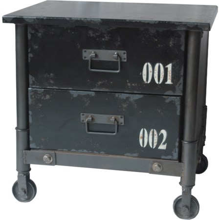 Black 2-Drawer Cabinet