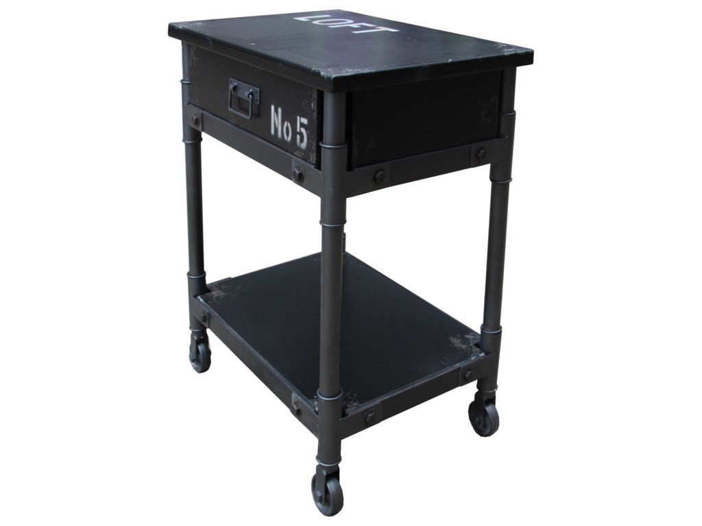 Moe's Home Collection SohoBlack 1-Drawer Cabinet