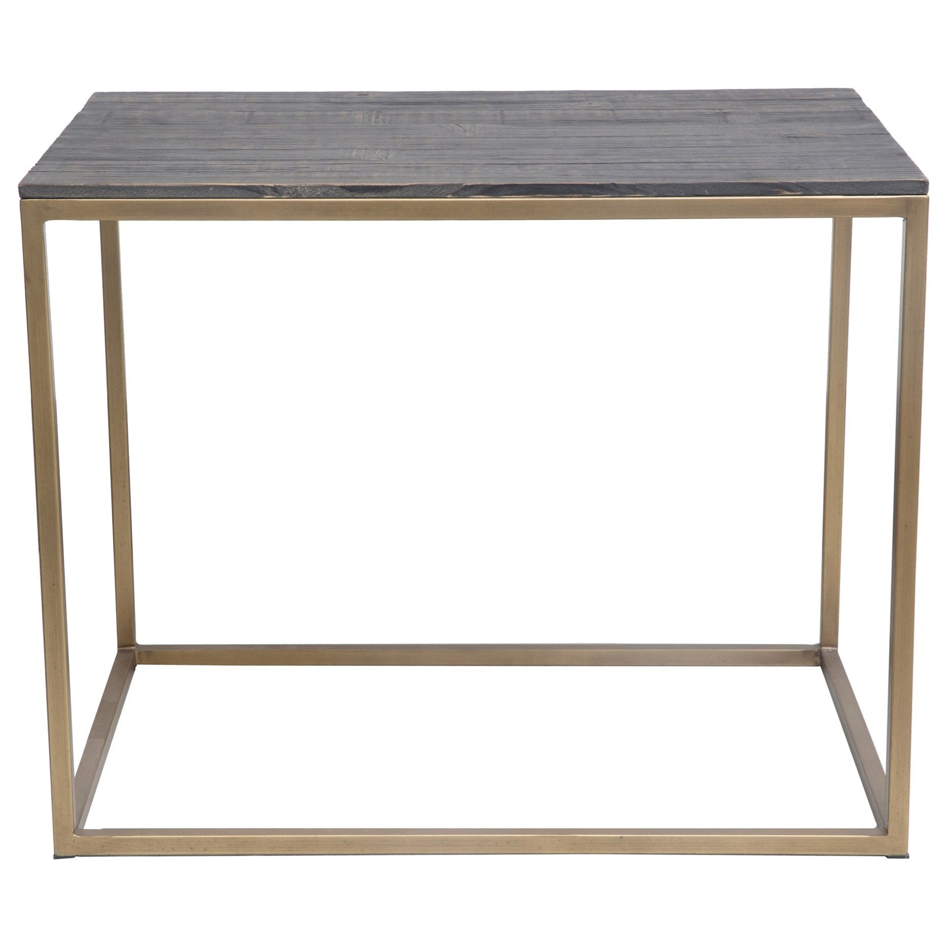 Moe S Home Collection Studio Industrial Brass Side Table