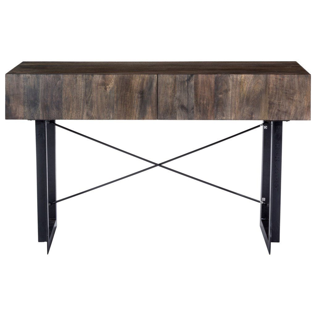 Moe S Home Collection Tiburon Rustic Console Table With 2 Drawers