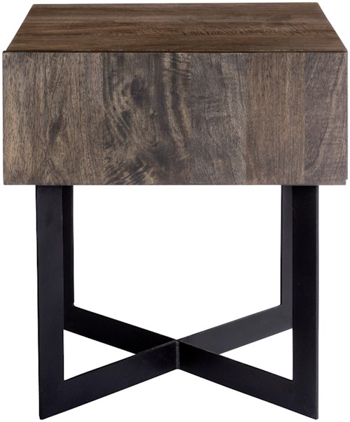 Moe's Home Collection Tiburon Rustic Side Table with Drawer