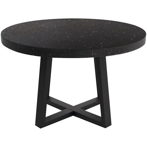 Moe's Home Collection Vault Contemporary Dining Table with Terazzo Top