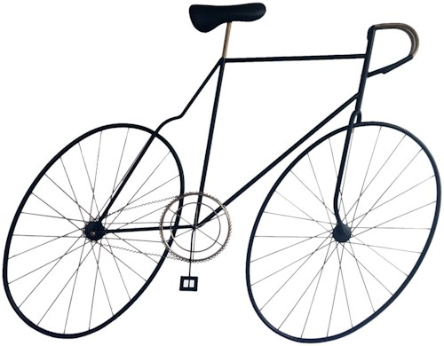 Moe's Home Collection Wall Décor Mcmillan Bicycle Wall Art Black