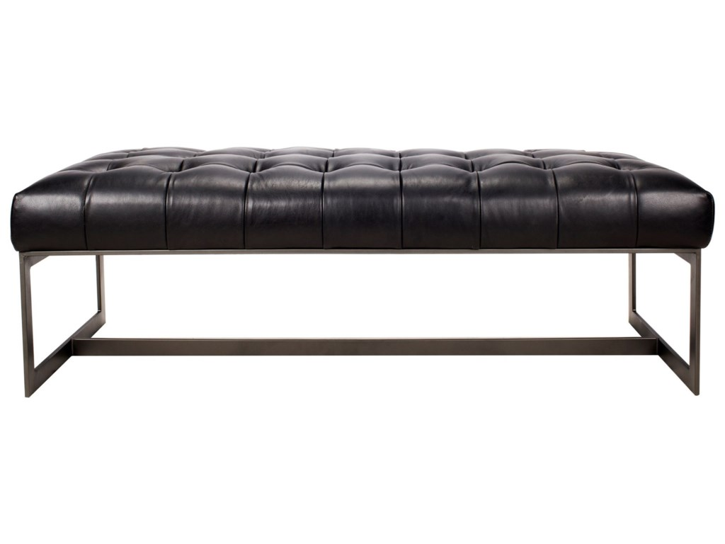 Moe's Home Collection WyattLeather Bench Black