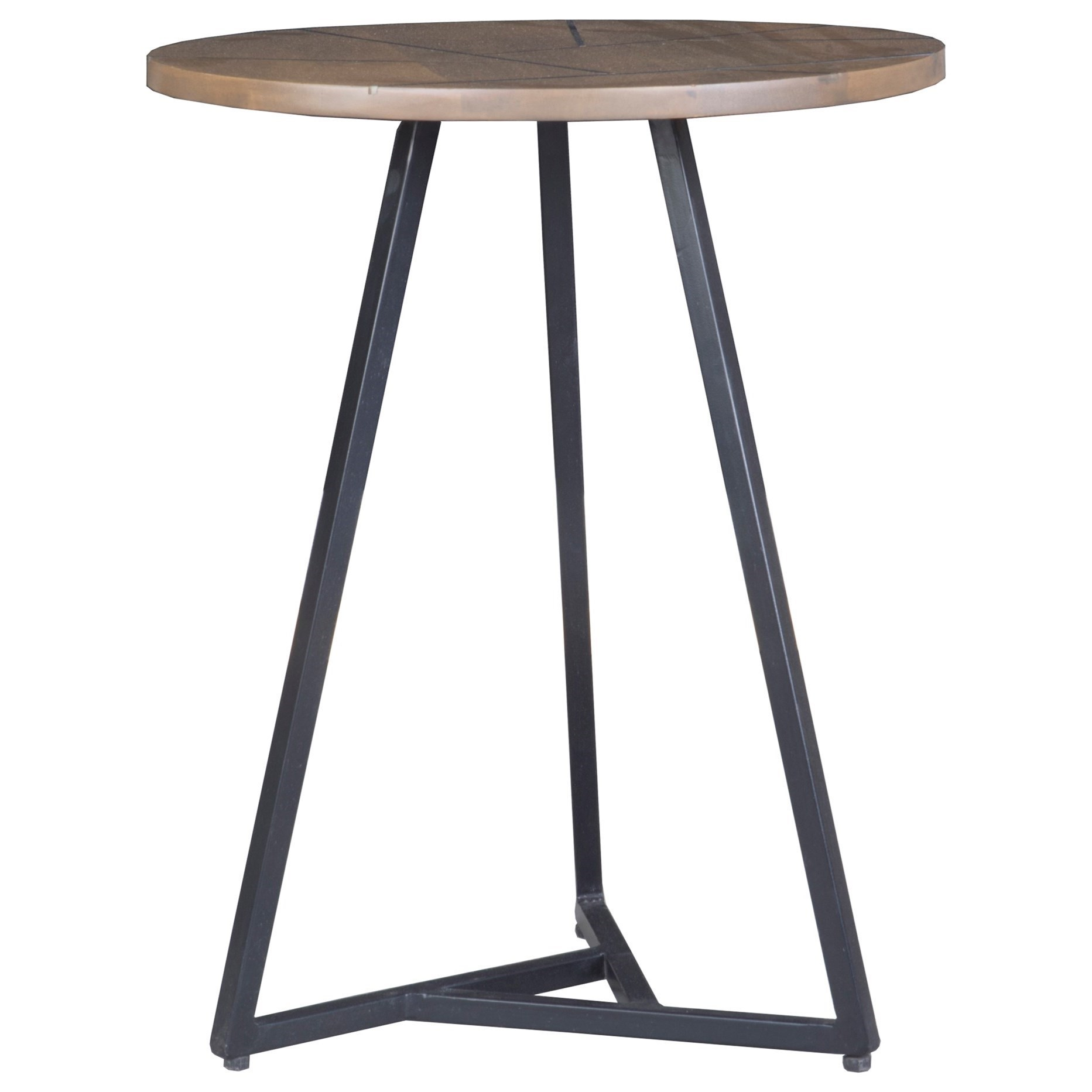 Moeu0027s Home Collection Xerra Transitional Side Table With Metal Base