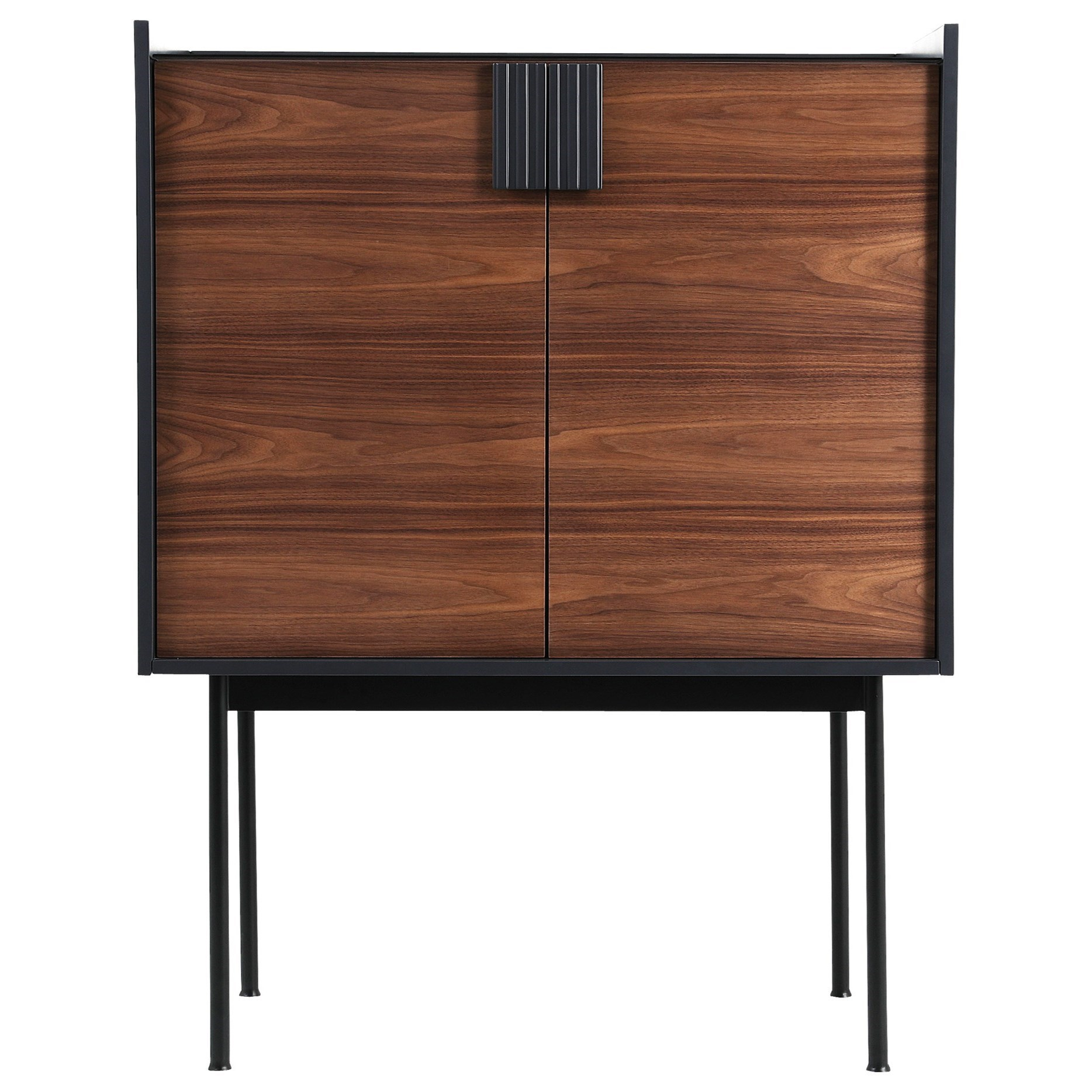 Moeu0027s Home Collection Yasmin Contemporary Two Tone Bar Cabinet With Wine  Bottle Storage