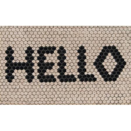 "Hello Hex Tile 1'6"" x 2'6"" Rug"