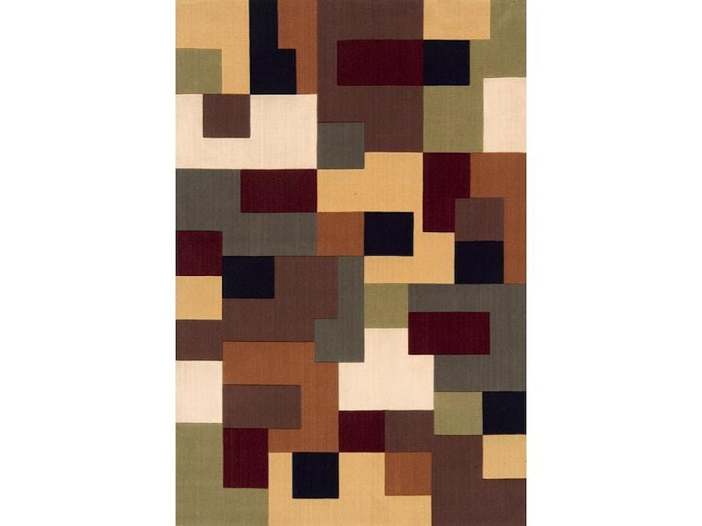 Momeni Eclectic II5 x 8 Area Rug : Multi