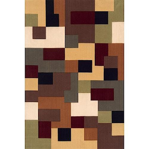 Momeni Eclectic II 8 x 11 Area Rug : Multi