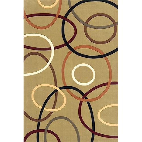 Momeni Eclectic IX 5 x 8 Area Rug : Sage