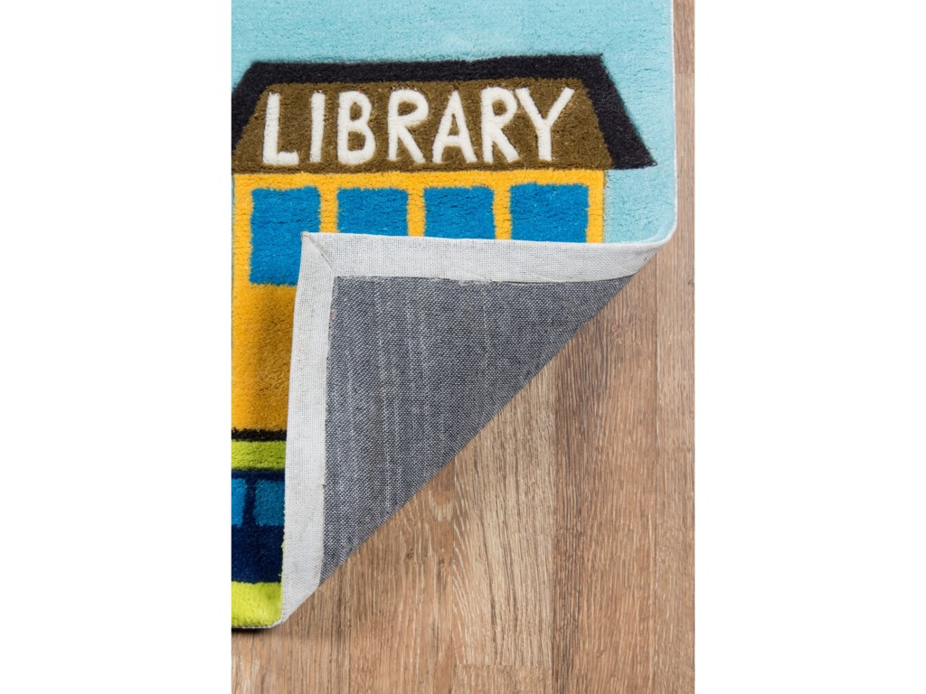 Momeni Lil Mo WhimseyTown Scene 4' X 6' Rug - Town