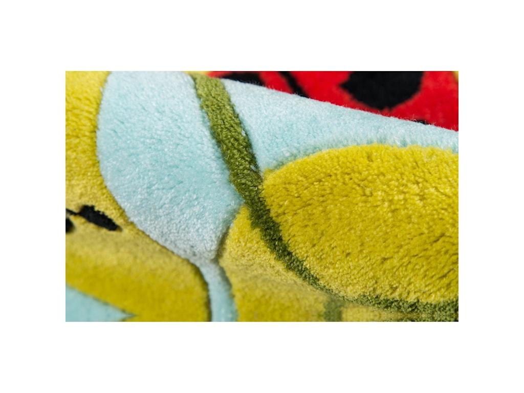 Momeni Lil Mo WhimseyLadybug Family 8' X 10' Rug - Lady Bug Red