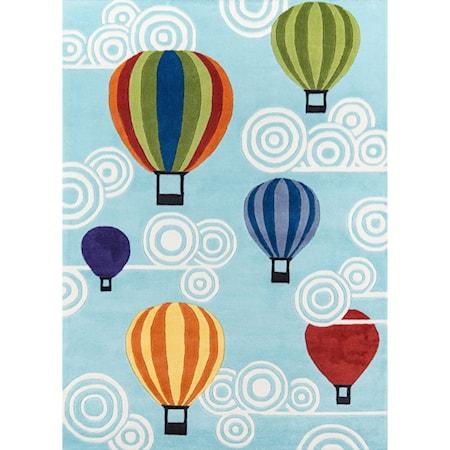 Hot Air Balloons 5' X 7' Rug - Multi
