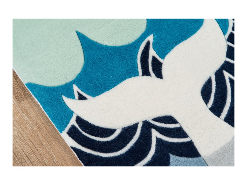 Momeni Lil Mo WhimseyWhale's Tail 2' X 3' Rug - Multi Blue